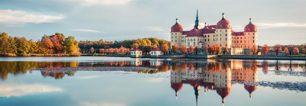 Schloss Moritzburg wird uns leider nicht als Ferienwohnung dienen können, doch ist es ein lohnendes Ziel für eine  Tagesausflug von hier. (#3)